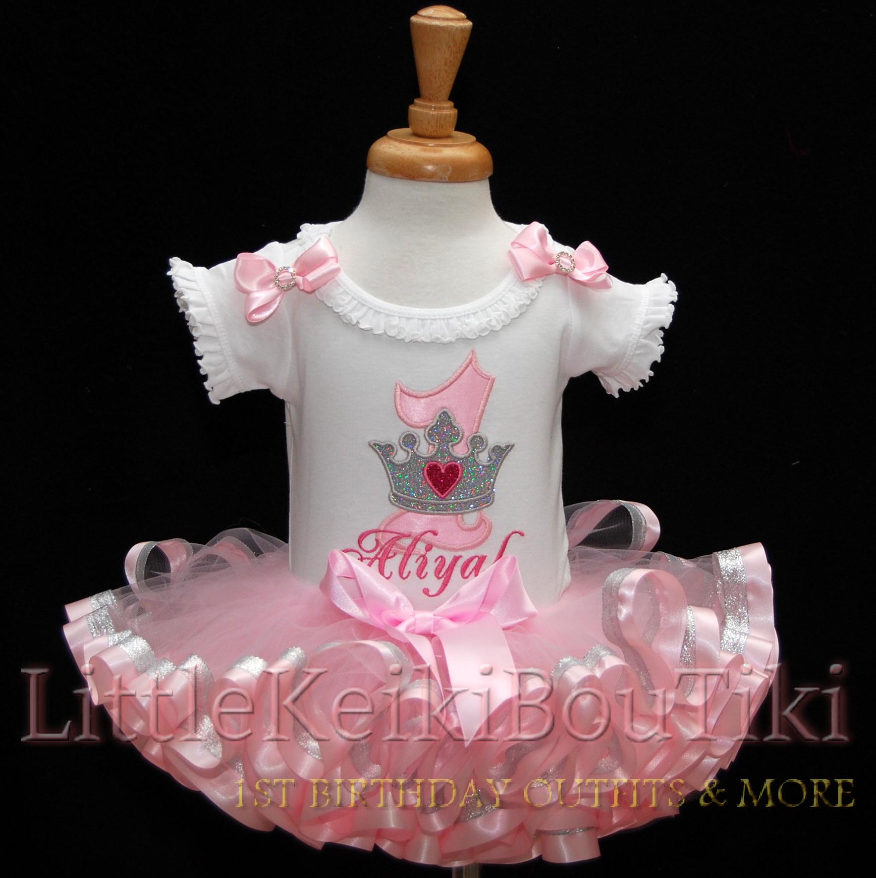 Princess 1st Birthday Outfit, Customized Onesie, 6 piece set