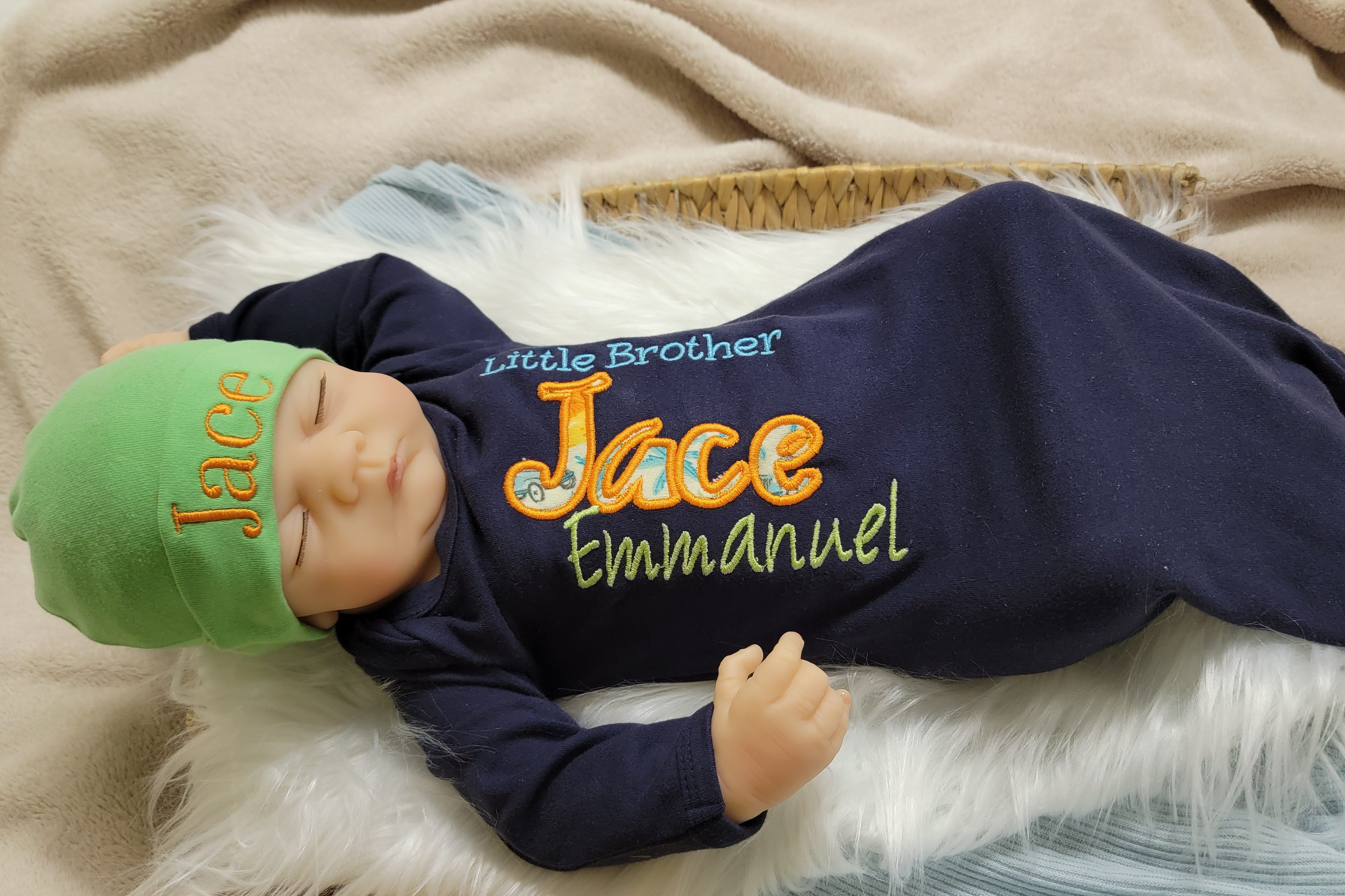 Infant's long sleeve sleep gown Little Brother