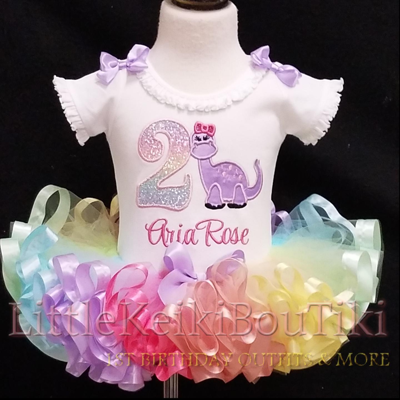 Purple Dino, Birthday Outfit girl