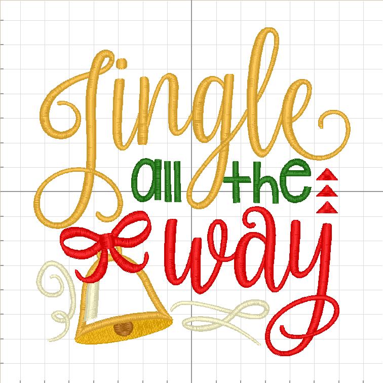 Jingle All The way Christmas Design