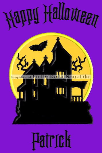 Haunted House Halloween Design