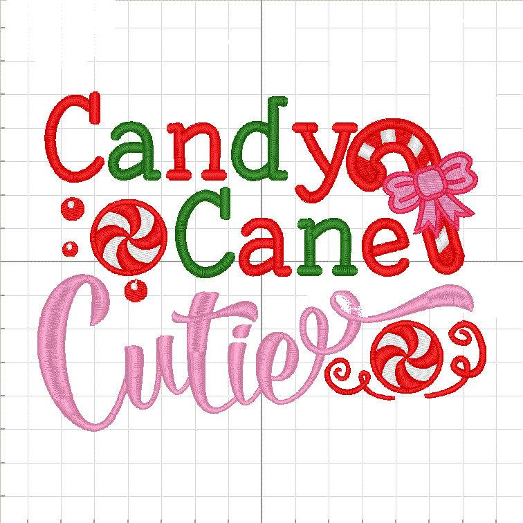 Candy Cane Cutie onesie design