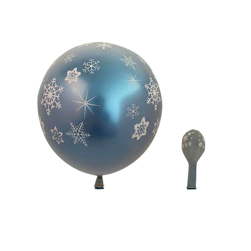 104pcs Snowflake Balloons Garland Arch Kit Ice Snow Queen Metal Balloon For Frozen Birthday Decor