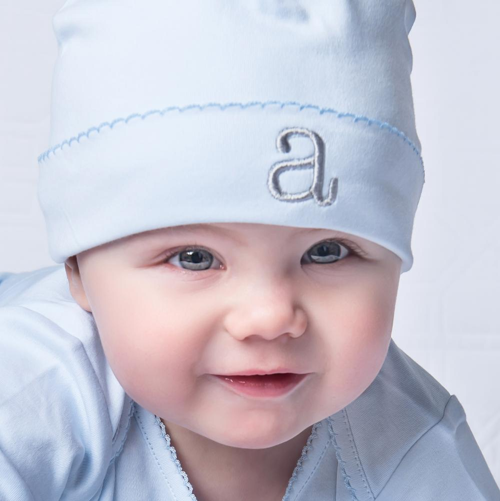 Baby Boy Coming Home Outfit Pima Cotton, Footie & Hat