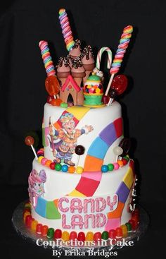 CandyLand 1st Birthday outfit. Ribbon trimmed tutu in bright rainbow colors