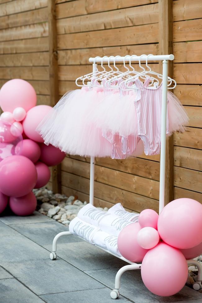 clothing rack with ballerina tutus