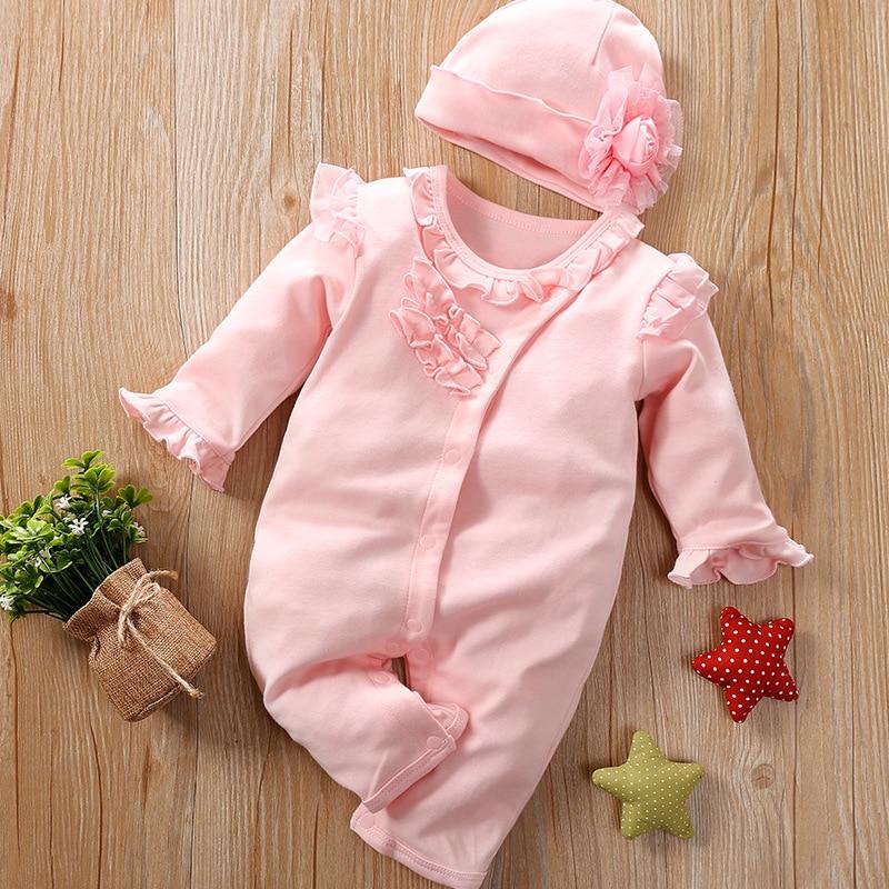 Floral Newborn Baby Girl Romper, Cotton New Born Infant  jumpsuit