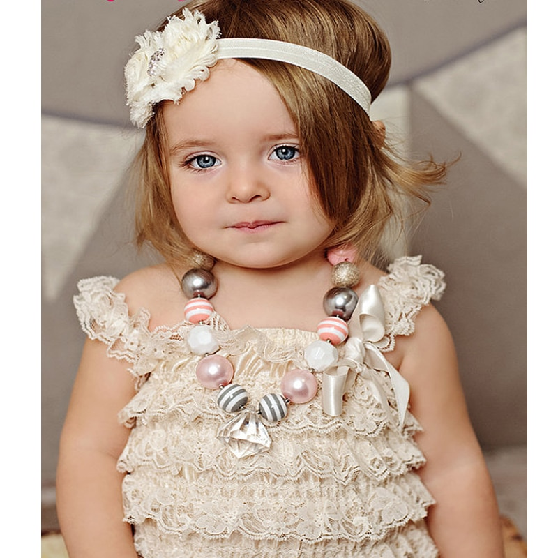 Baby Lace Rompers Infant Lace Romper with Straps Ribbon Bow Kids Jumpsuit Baby Girls Lace Ruffled Petti Clothes