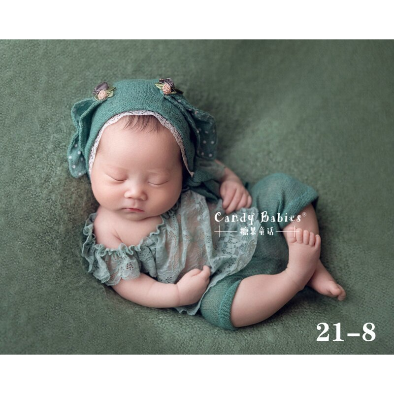 Outfits Rabbit ear Hat Bonnet Clothes Set  For  Newborn Photography Props Baby Photo Shoot Accessories  Studio Bebes Photoshoot