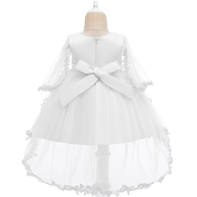 Baby Dress Infant Lace Tutu Long Sleeve Christening Princess Gown Dresses For Baby Girl Clothing Birthday Party Newborn Baptism