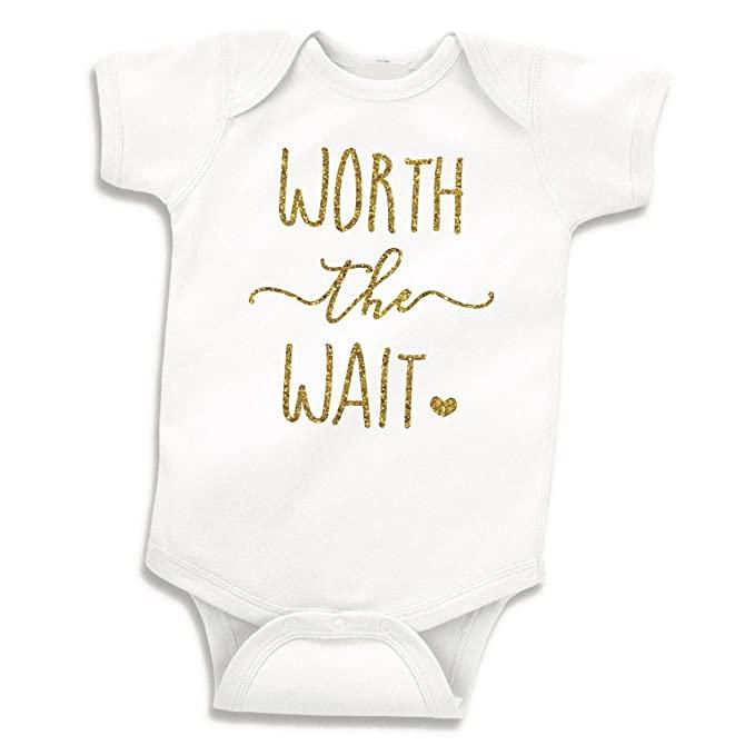 Worth the Wait onesie- personalized newborn gift