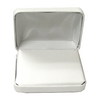 White metal leatherette pendant / earring box
