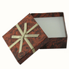 Brown marble 2-piece utility with dark gold ribbon