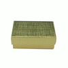 """Gold Foil 3 1/2"""" Paper Box with Cotton Fill"""