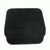 """Black Utility Box-Unlined- with Black 4"""" Cylinder Pouch"""