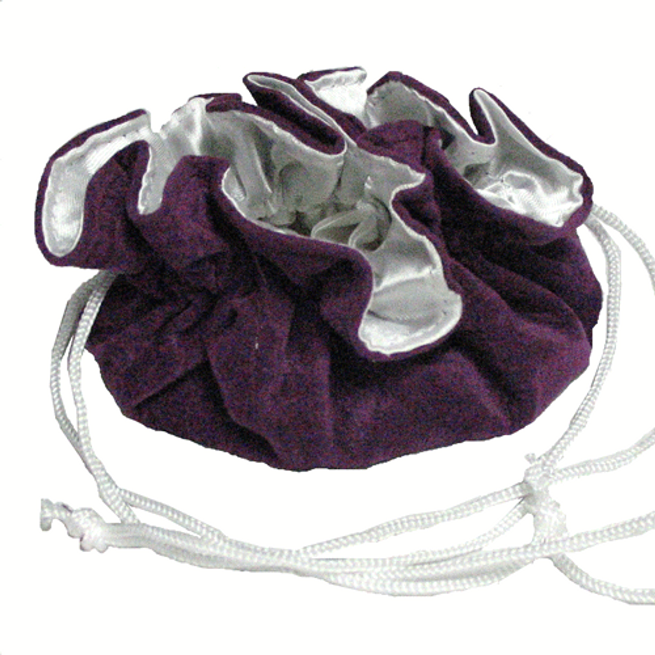 """8"""" Purple and White Compartment Pouch"""