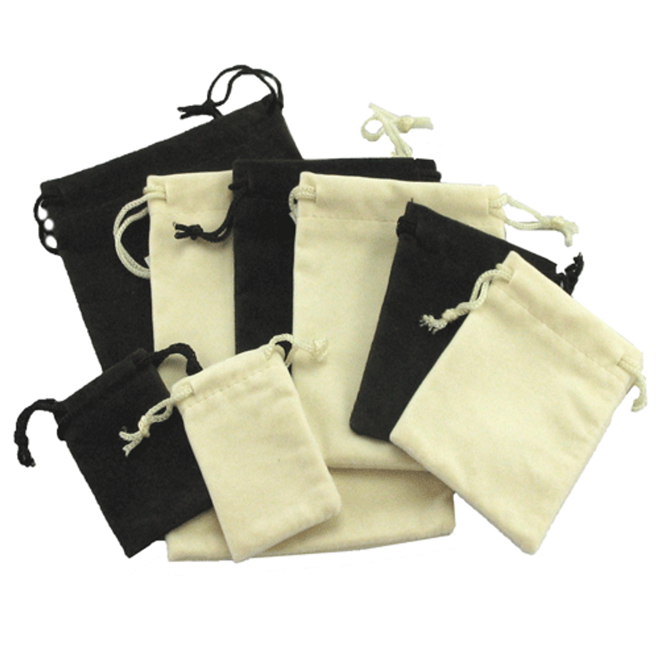 """Off-White 2"""" x 3"""" NumaSuede Drawstring Pouch"""