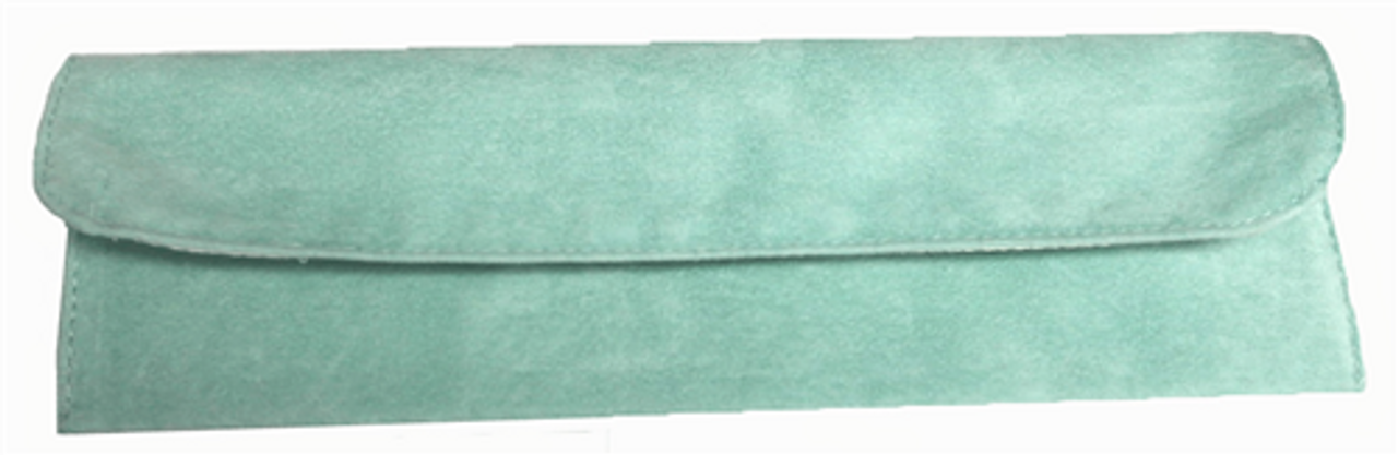 """9"""" x 2"""" Soft Green Fold-Over Pouch"""