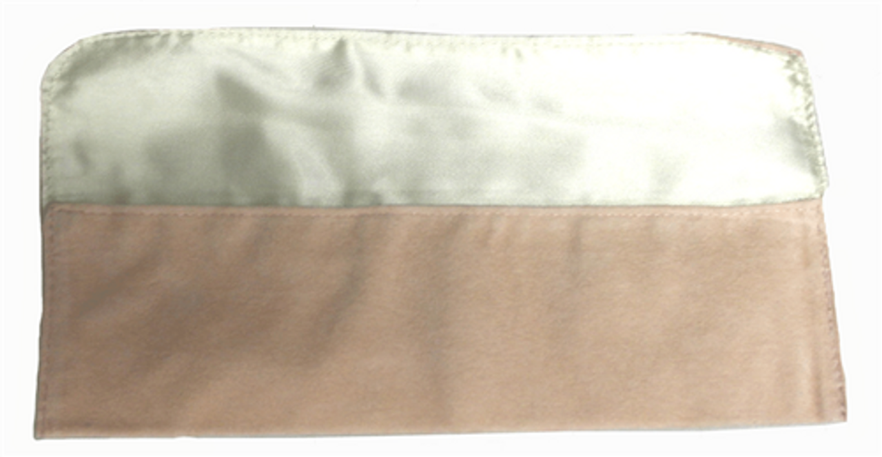"9"" x 2"" Soft Pink Fold-Over Pouch"