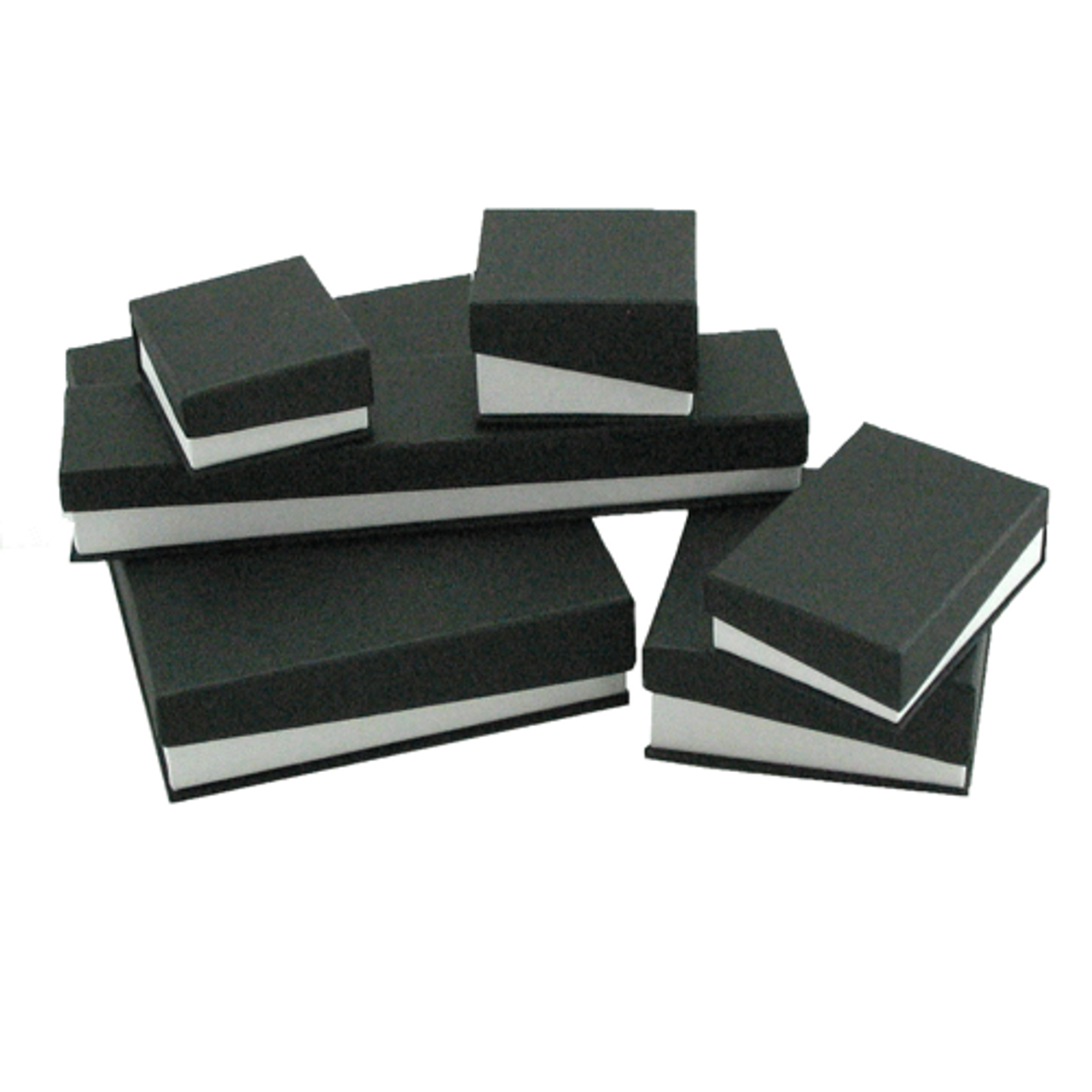 Hinged Black White Bracelet Box