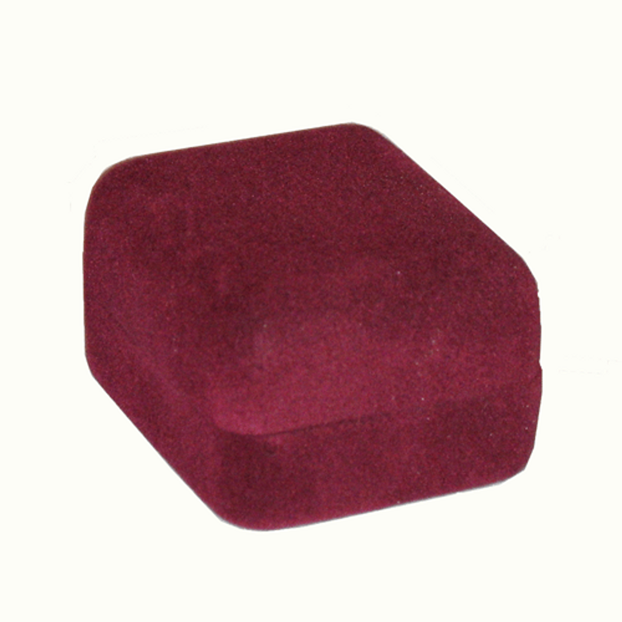 Burgundy ecosuede box