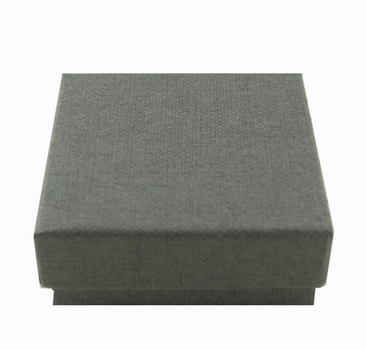 Classic Grey Textured Paper 2 Piece Earring Box