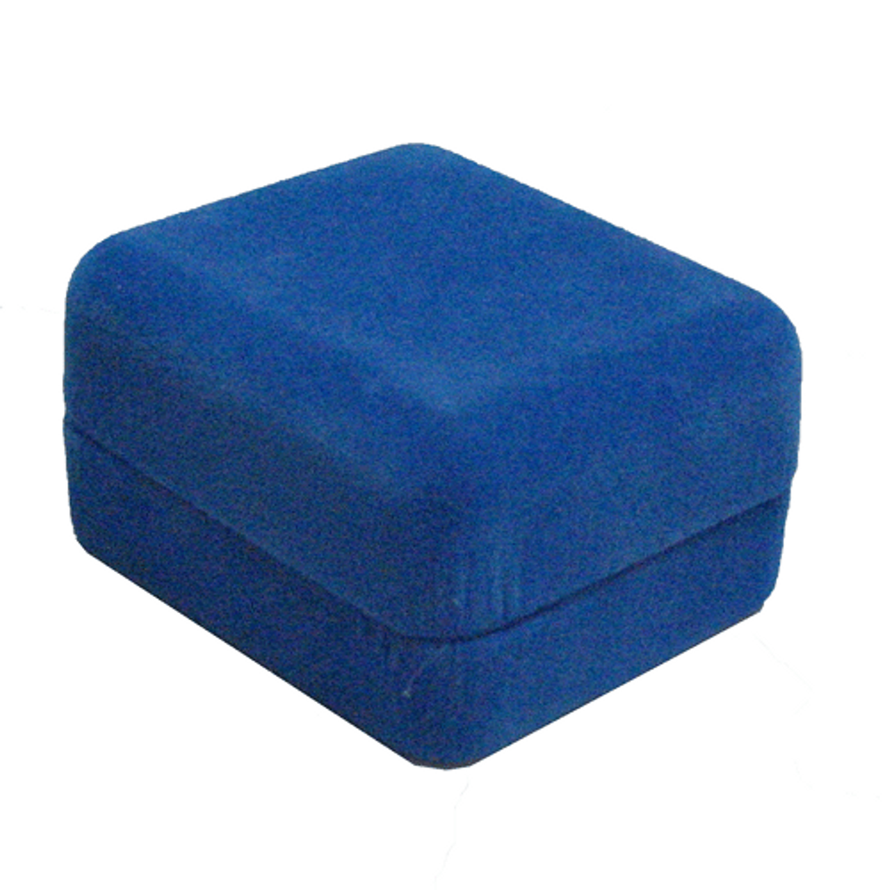 Blue Ecosuede Box with Ring Foam Insert