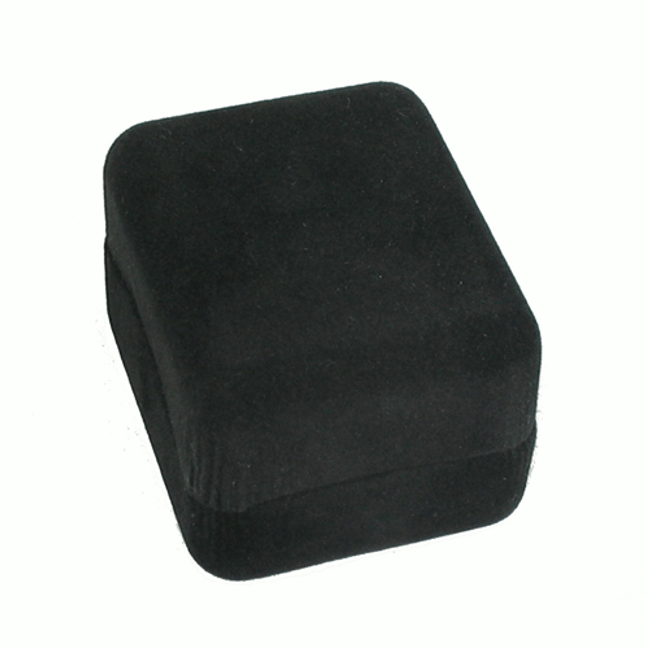 Black Ecosuede Box with Ring Foam Insert