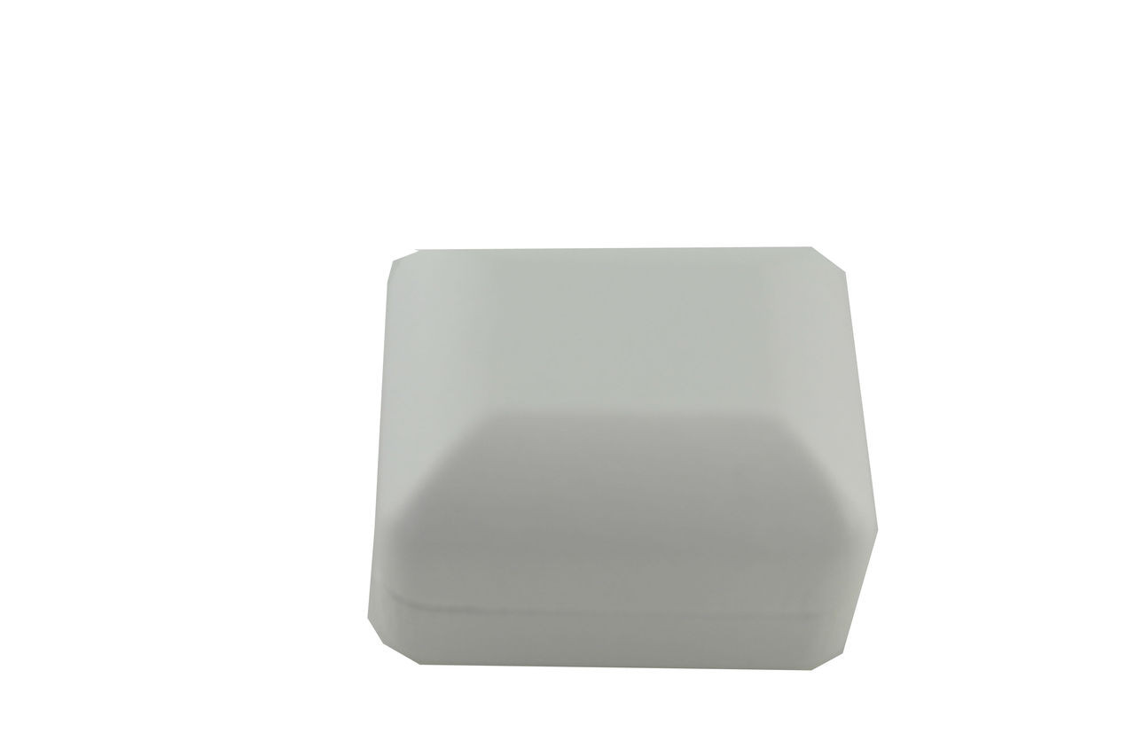 "White 2 1/2"" Leatherette Ring Box"