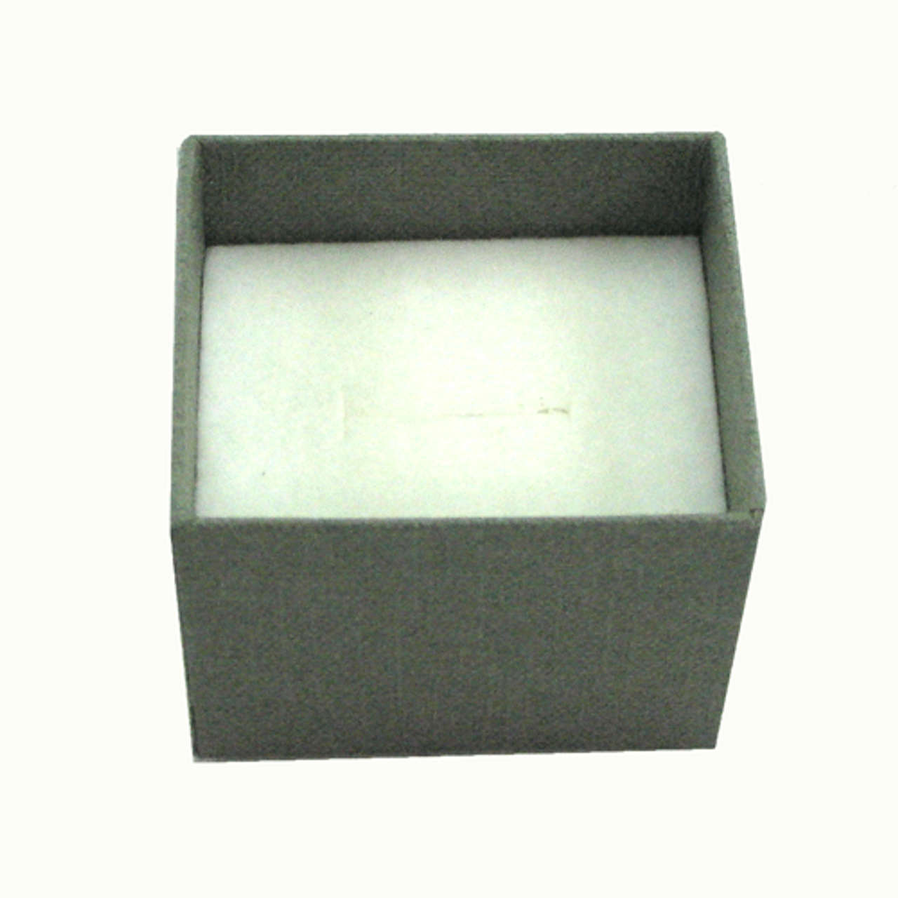Classic Grey Paper Ring Box with Window