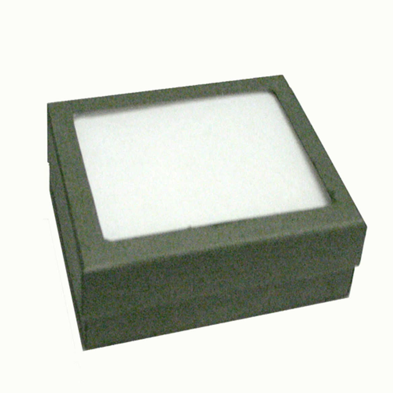 Classic Grey Paper Pendant Box with Window