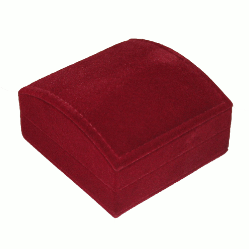 Cranberry Ecosuede Domed Utility Box