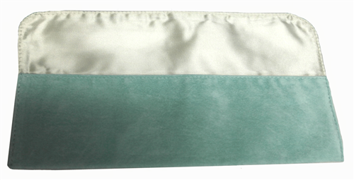 "9"" x 2"" Soft Green Fold-Over Pouch"