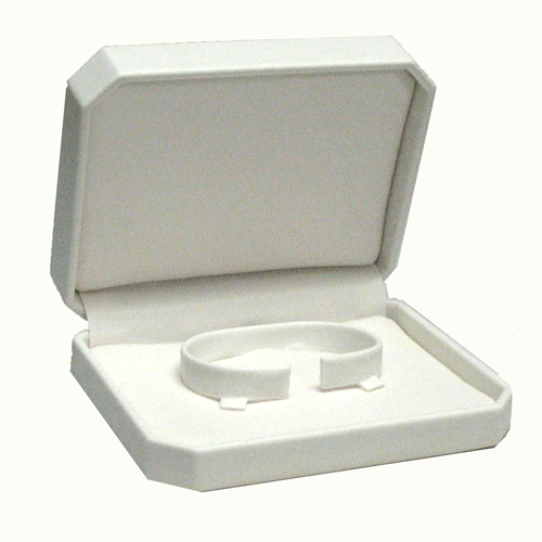 White Leatherette Bangle Box