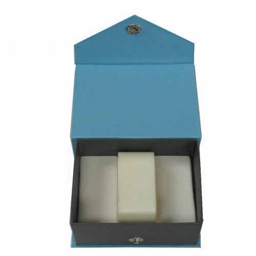Contemporary Snap blue watch/bangle box