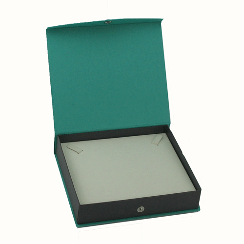 Contemporary Snap green necklace box
