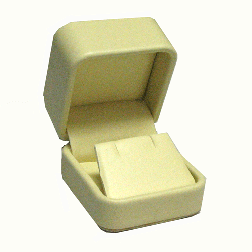 Soft Yellow Leatherette Small Easel Pendant Charm