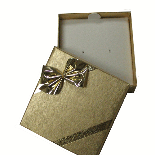 Ribbons and Bows Gold Earring Box