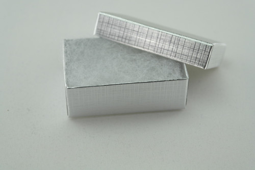 Silver Foil Paper ring earring box