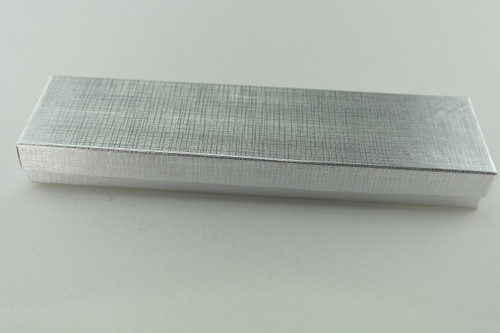 Brushed Silver Bracelet Box with Cotton Fill