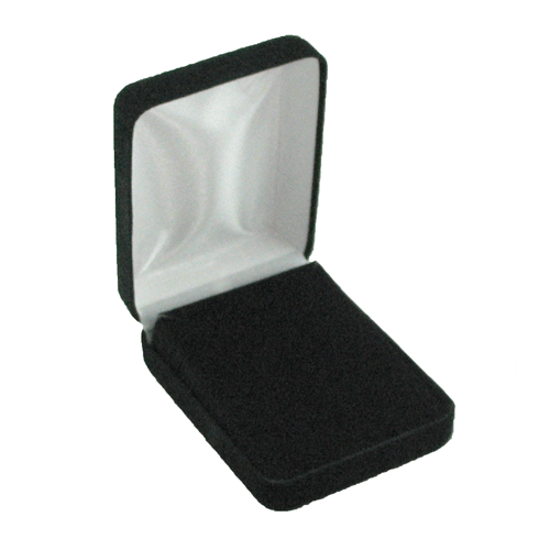 "Black EcoSuede 3"" Metal Box- Pad sold separately"