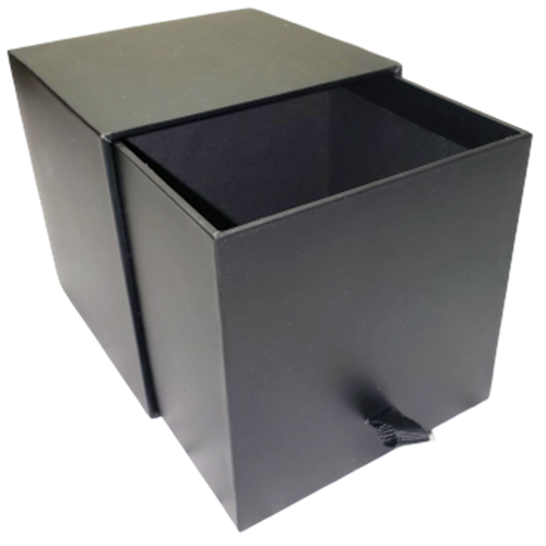 Candle Slide Box with Ribbon Pull- Black