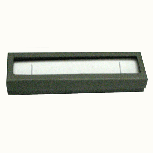 Classic Grey Paper Bracelet Box with Window