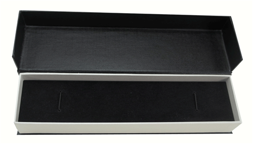 Black Hinged Paper Bracelet Box