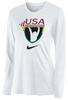 Nike Women's USAW Team Legend LS Crew - White
