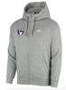 Nike Men's USAW Club Fleece Full Zip Hoodie - Heather Grey