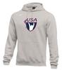 Nike Men's USAW Club Fleece Pullover Hoodie - Heather Grey