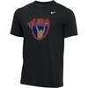 Nike Men's USA Weightlifting Tee - Black/Gold