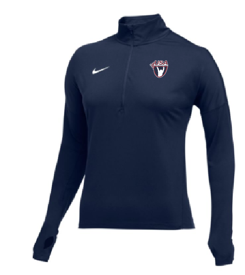 Nike Women's USAW Element 1/2 Zip Top - Navy/White