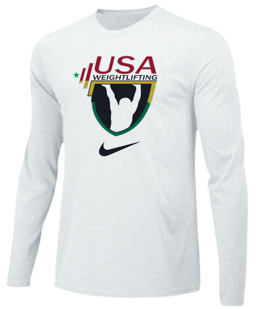 Nike Youth USAW Team Legend LS Crew - White